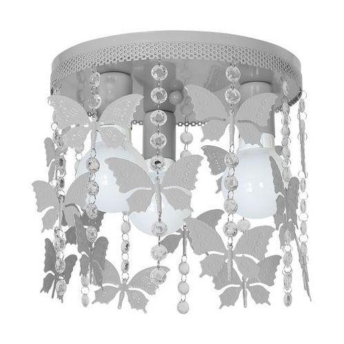 Plafon lampa oprawa sufitowa Milagro Angelica 3x60W E27 szary 1167
