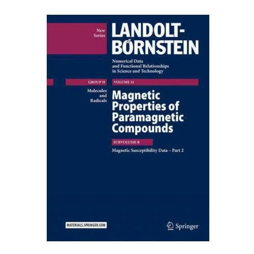 Magnetic Properties of Paramagnetic Compounds (9783662459713)
