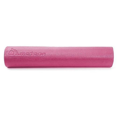 Mata do ćwiczeń fitness METEOR - pastelowy róż 180x60x0,5cm - Różowy