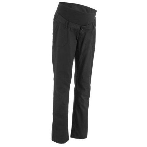 Bonprix Spodnie lniane ciążowe czarny