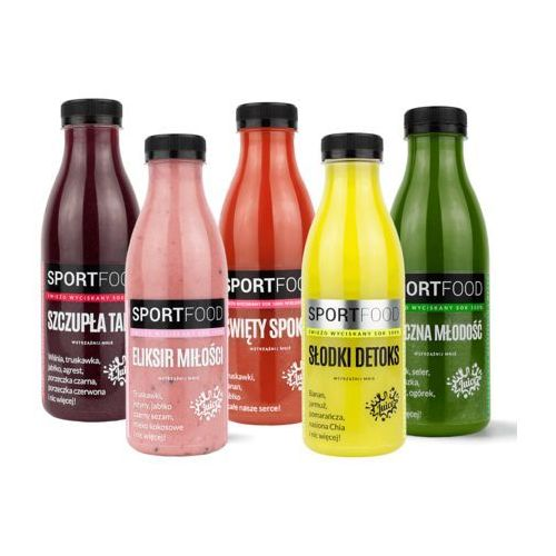Sportfood Dieta 1 dniowa / soki coldpress / dostawa w 24h / detoks sokowy / dieta sokowa (5905669102018)