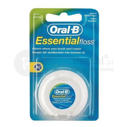 essentialfloss 50m nić dentystyczna woskowana o smaku miętowym e029 marki Oral-b