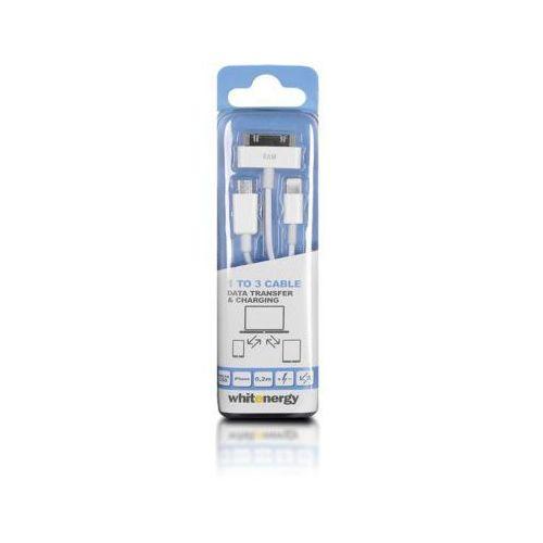 Whitenergy KABEL USB 2.0 AM BmicUSB /iphone4/5 20cm bialy (5908214367375)