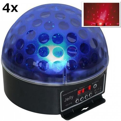 Beamz Magic jelly dj-ball zestaw 4 xefekt świetlny kula ledrgb dmx