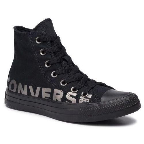 Trampki - ctas hi 165429c black/gunmetal/black, Converse, 35-37.5