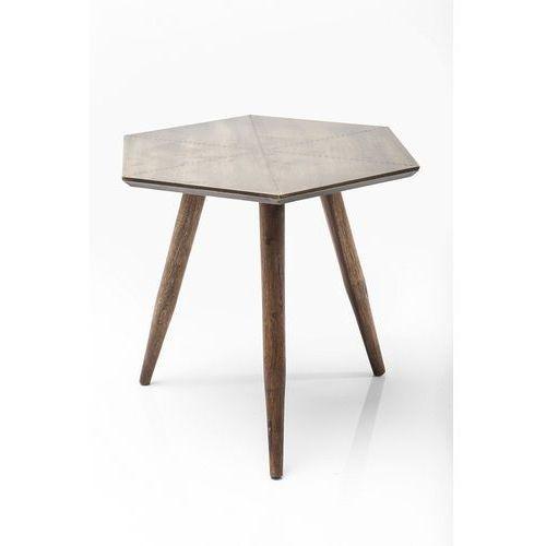 :: stolik tangram gold 50x50cm - drewniany ||złoty marki Kare design