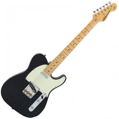 Vintage V75BK gitara elektryczna, Gloss Black