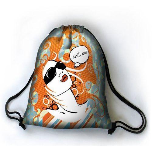 Designerski plecak worek chill out - czarny ||niebieski ||szary ||turkusowy ||pomarańczowy ||żółty marki Bertoni