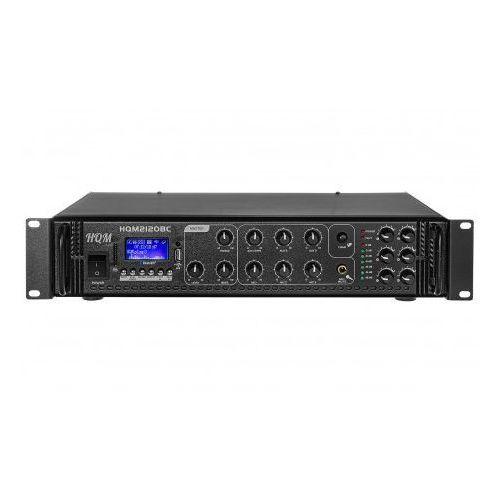 Wzmacniacz radiowęzłowy 100v pa hqm2120bc 120w marki High quality music