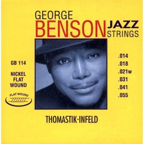 Thomastik (676657) struny do gitary elektrycznej george benson jazz guitar komplet