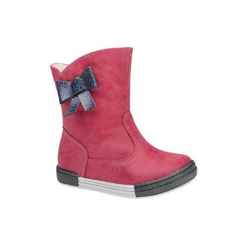 Kornecki Botki kozaczki zimowe 4804 fuxia różowe ocieplane - fuksja   różowy