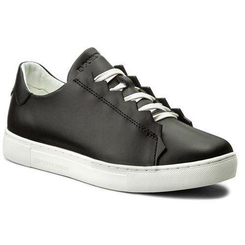 Sneakersy EMPORIO ARMANI - X3X051 XF187 00002 Black, kolor czarny