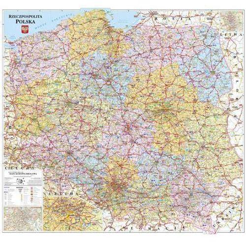Polska mapa kodowa ścienna -. (1 str.)