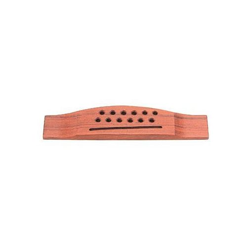 Grover Pin-Less Guitar Bridge, Classical Guitars, Rosewood / Plastci Saddle (12 string) mostek