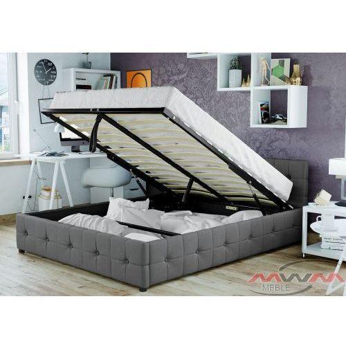 Łóżko tapicerowane do sypialni 140x200 sfg012b szare marki Meblemwm