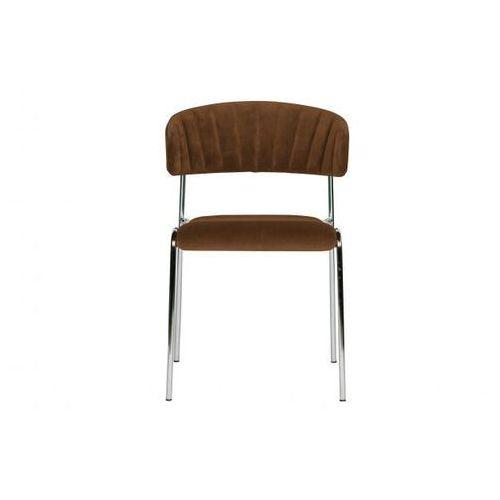 Be Pure Krzesło do jadalni TWITCH aksamit różowy 800027-B, kolor różowy