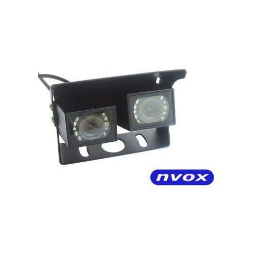 Nvox Samochodowa podwójna kamera cofania cmos ii w metalowej obudowie 12v 24v