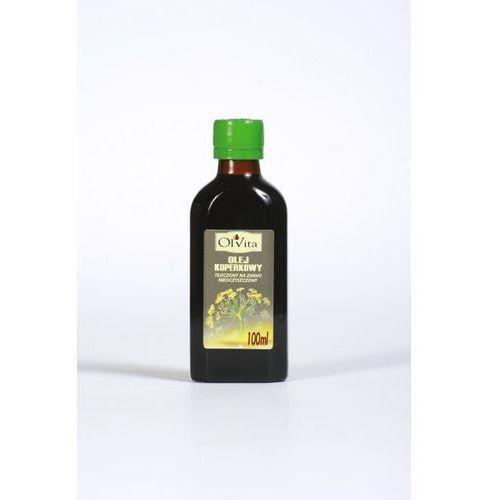 Olej koperkowy tłoczony na zimno, nieoczyszczony 100ml - Olvita (5907591923433)