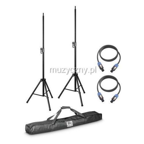 Ld systems dave 8 set2 zestaw 2 statywów z torbą i 2 kabli głośnikowych do systemu dave 8