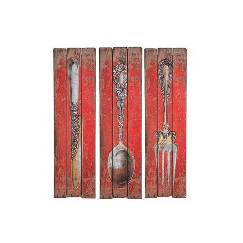 Kare Design Mountain Chalet Cutlery Dekoracja Ścienna Nóż Widelec lub Łyżka (31419) (obraz)