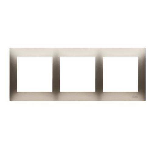 Kontakt-simon Ramka 54 dr3/44 3- krotna złoty mat (5902787827052)