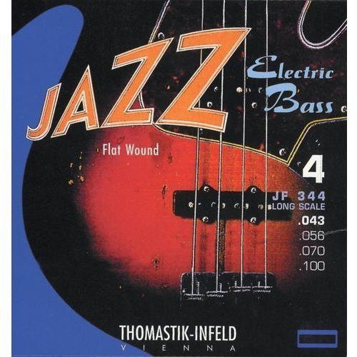Thomastik JF32043 (682701) struny do gitary basowej Jazz Bass Seria Nickel Flat Wound Roundcore.043