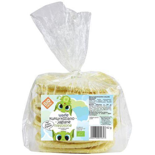 Biominki (przekąski dla dzieci) Wafle kukurydziano-jaglane niesolone bio 62 g biominki (5904730012317)