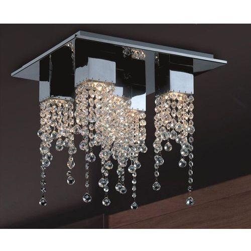 Plafon lampa sufitowa larix mx93708-5b kryształowa oprawa glamour crystal chrom przezroczysta marki Italux