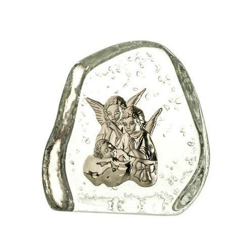 Skałka kryształowa aniołki z dzieciątkiem 4010