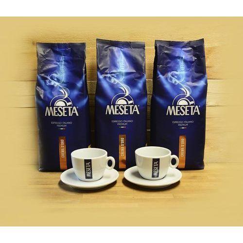 Meseta Zestaw promocyjny 3kg kawy crema d'oro + 2 filiżanki meseta cappuccino