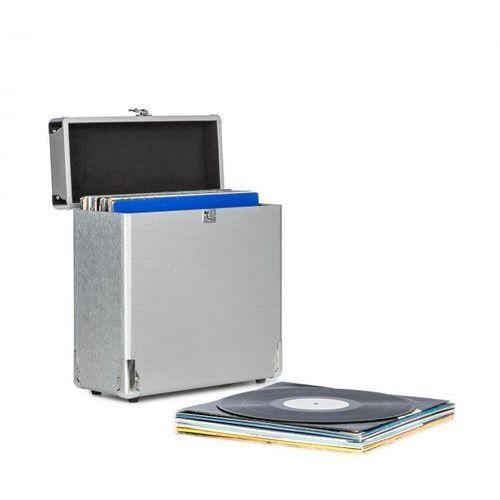 Auna Vinylbox Alu walizka na 30 płyt winylowych wieko na zawiasach srebrna (4060656105210)