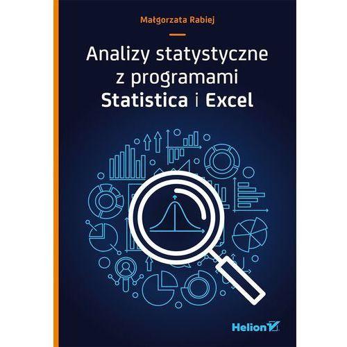 Analizy statystyczne z programami Statistica i Excel - Małgorzata Rabiej (9788328339224)