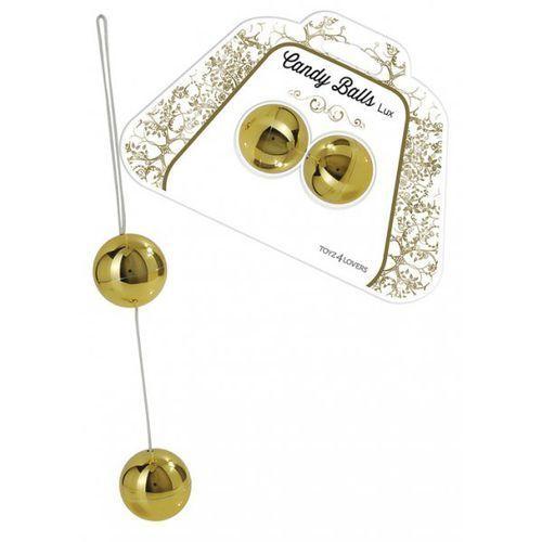 Toyz4Lovers Candy Balls Lux Gold Kulki analne i dopochwowe złote (8053629693766)