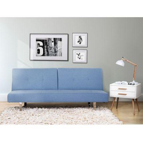 Sofa z funkcja spania niebieska - kanapa rozkladana - wersalka - DUBLIN - sprawdź w Beliani