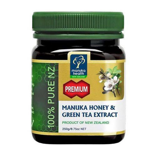 Miód manuka 250+ z ekstraktem z zielonej herbaty 250g marki Manuka health