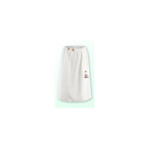 Sauna kilt ręcznik biały z logo 100% bawełna damski 70*140 na guziki, Produkcja własna