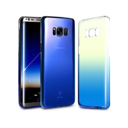 Etui Baseus Glaze Samsung Galaxy S8 ombre aurora Blue + Szkło - Niebieski