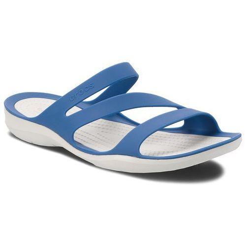 Klapki - swiftwater sandal w 203998 blue jean/pearl white marki Crocs