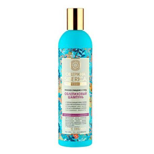 Professional - szampon rokitnikowy do włosów normalnych i tłustych - głębokie oczyszczenie i pielęgnacja - kostrzewa ałtajska, olej arganowy, kocimiętka syberyjska, jarzębina, dąb, malina, olej z rokitnika ałtajskiego, Natura Siberica z Kosmetyki Naturalne Maya