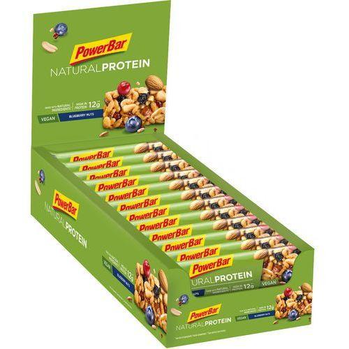 Powerbar natural protein żywność dla sportowców blueberry nuts (vegan) 24 x 40g 2019 batony i żele energetyczne (4029679669857)