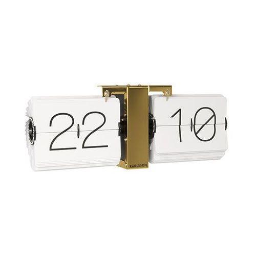:: zegar ścienny flip clock złoty - złoty   biały marki Karlsson