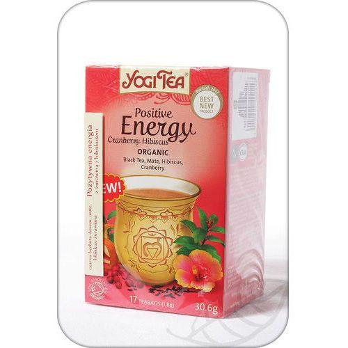 Yogi tea, usa Herbata pozytywne energia żurawina i hibiskus bio (yogi tea) 17 saszetek po 1,8g