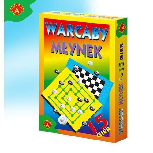 ALEX Gra planszowa. Warcaby, Młynek (5906018000771)