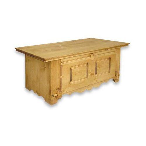 Ława z drewna świerkowego Mexicana 7 (stolik i ława do salonu)