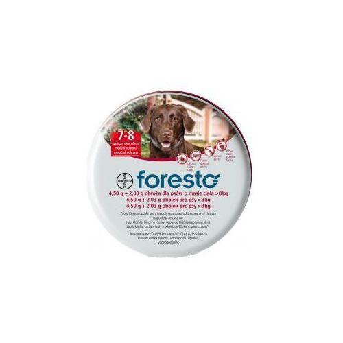 Bayer Foresto Obroża 4,5g + 2,03g dla psów >8kg z kategorii Obroże dla psów