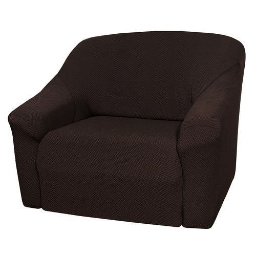 4home pokrowiec multielastyczny na fotel brązowy elegant, 70 - 110 cm, 70 - 110 cm