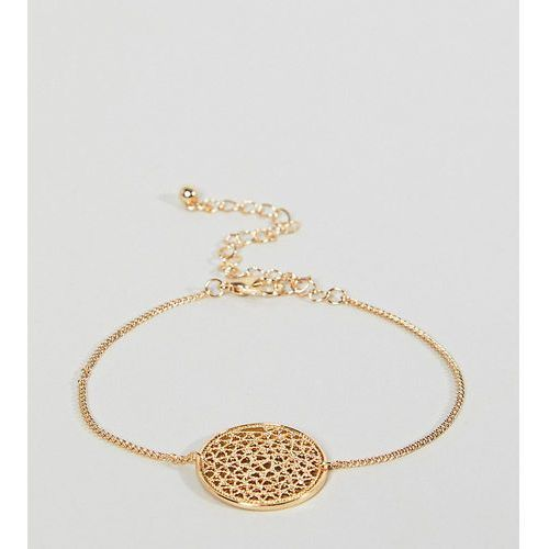 Asos curve filigree disc charm bracelet - gold