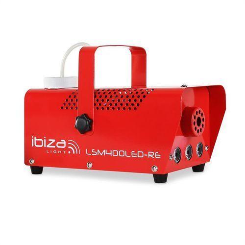 Maszyna do mgły Ibiza LSM400LED-WH mini amber LED czerwona