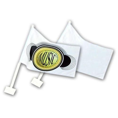 FLAGA SAMOCHODOWA BIAŁA do sublimacji z uchwytem na okno-10 szt/kpl