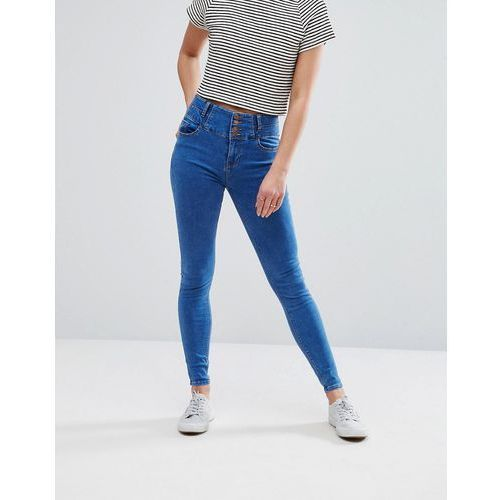 soft skinny jeans - blue marki New look
